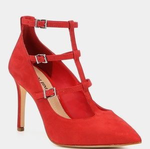 Gianni Bini Nykell pumps leather red pointy toe
